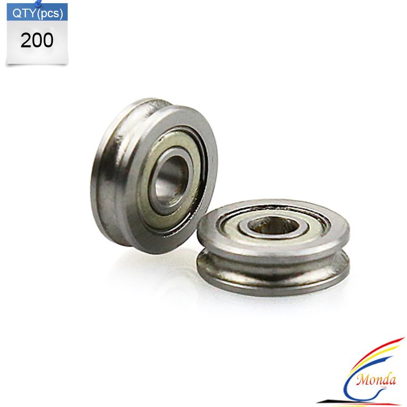 200 Pcs Lot 3D Printer Accessories 604UU 604ZZ 4MM U Type Bearing Parts For MakerBot RepRap