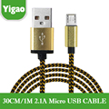 1M/30CM 2 in 1 Braided Micro usb Cable For iPhone 6 5S 5 ios 9 For Samsung Galaxy Android Fast Charging USB Charger Cable