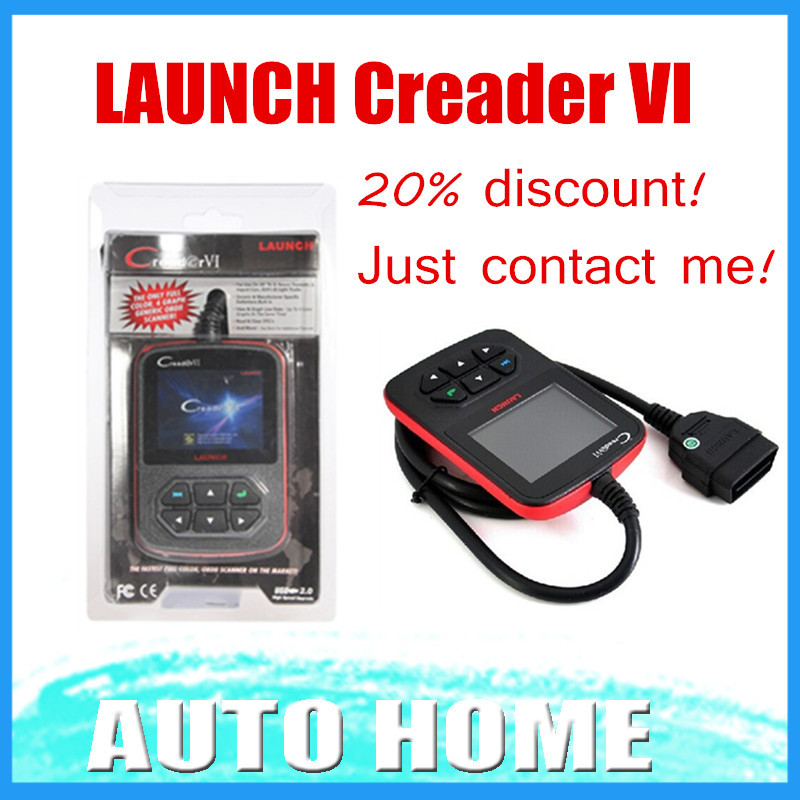 Just For Promotion 20% Discount! 2015 100% Original Launch Creader VI OBDII code scanner update online Creader6 Free shipping(China (Mainland))