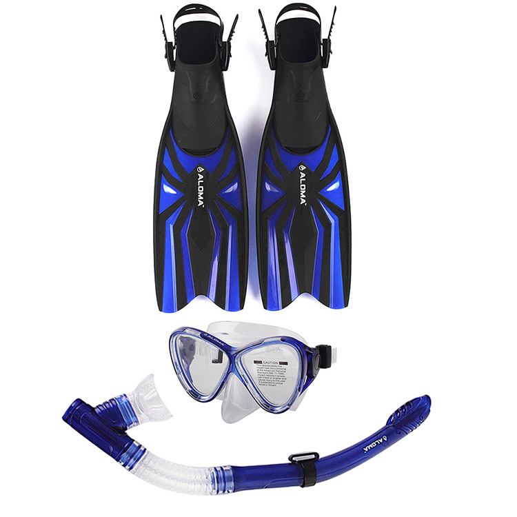 Scuba Diving Equipment 3pcs of Set Ocean Junior Mask Open Heel Fins Snorkel Combo Snorkeling Set Adult(China (Mainland))