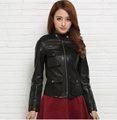 Free shipping Genuine leather women slim fur jackets motorbiker Asian size female sheep skin jacket Brand