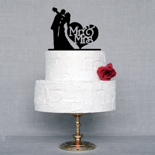 buy wholesale wedding decorations bride and groom cake topper acrylic mr mrs. Black Bedroom Furniture Sets. Home Design Ideas