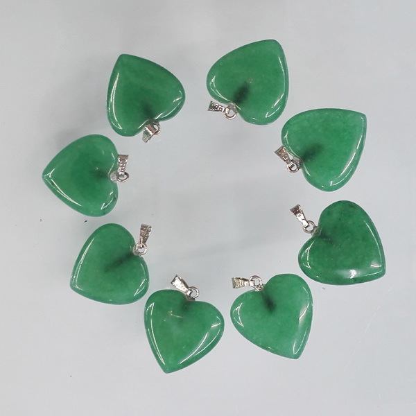 wholesale natural stone love heart pendants good quality charms Malay jade pendants for jewelry making 12Pcs/lot free shipping(China (Mainland))