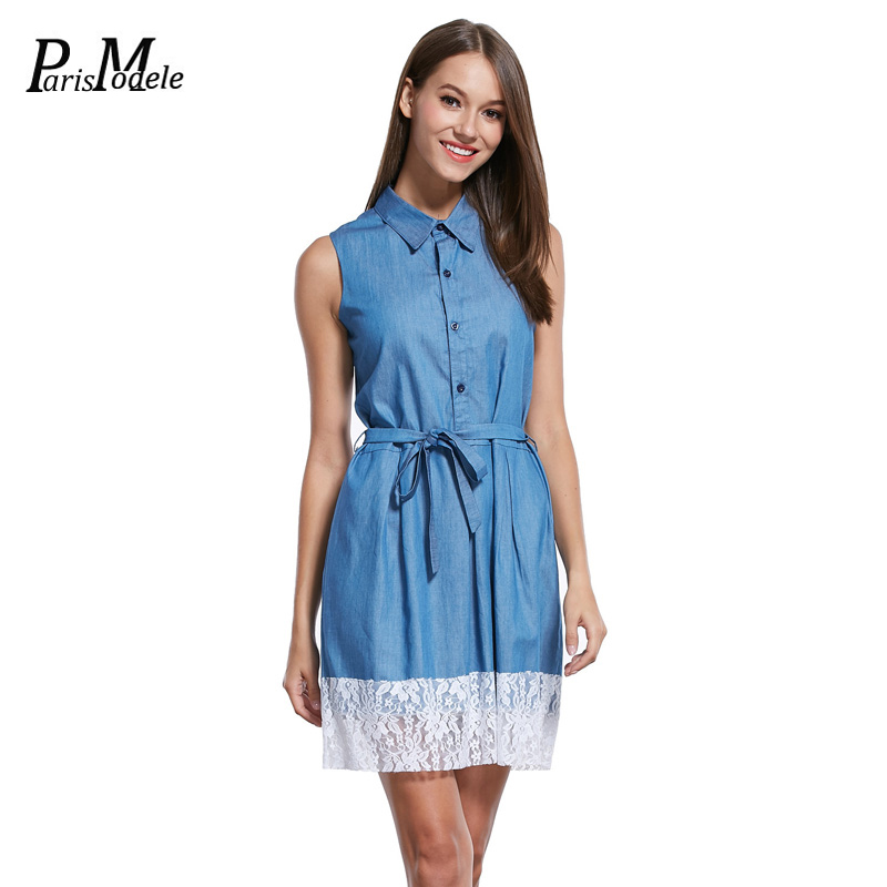 Brilliant Women39s Sleeveless Denim Slip Dress  ACHICGIRLCOM
