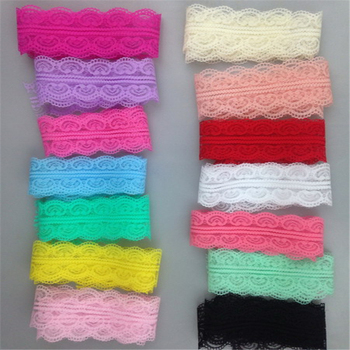 2015 New style 40MM Bilateral Handicrafts Embroidered Net Lace Trim Ribbon For Sewing Lace Fabric Decor Free shipping P269