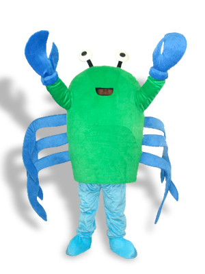Hot selling!New blue legs Green Crab Cartoon Fancy Dress Suit Outfit Animal Mascot Costume - Sam's World store