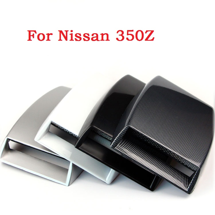 Car Stickers Car Decorative Air Flow Intake Scoop Turbo Bonnet Vent Cover 4 Colors Hood Decorate For Nissan 350Z(China (Mainland))
