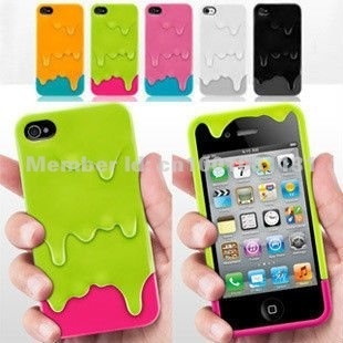 Eye-catching Switch EZ Melt Ice Cream Hard case for iPhone 4G 4S 4 - With Stand Holder - 6 Colors with Retail Packaging