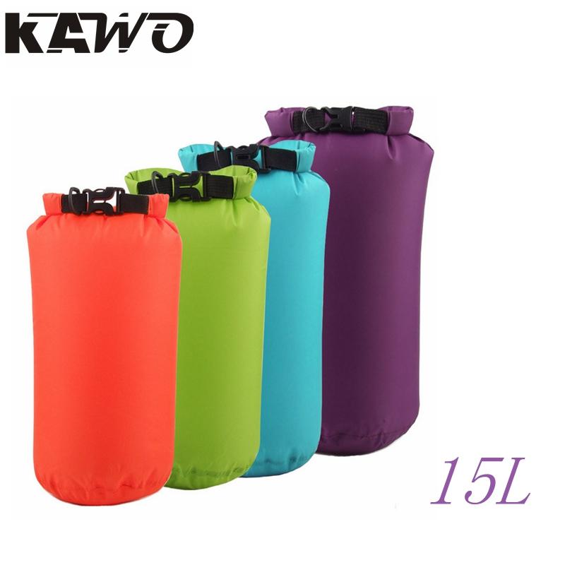 15L 8 Colors Dry Bag Sack Waterproof Bags Drifting Storage Outdoor Travel Bag For Boating Fishing Rafting Swimming Camping(China (Mainland))