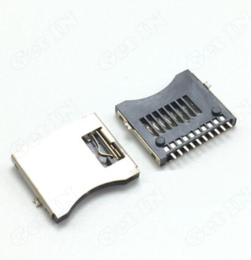 50pcs Micro SD Card Holder Socket Easy Type TF Memory card Jacks<br><br>Aliexpress
