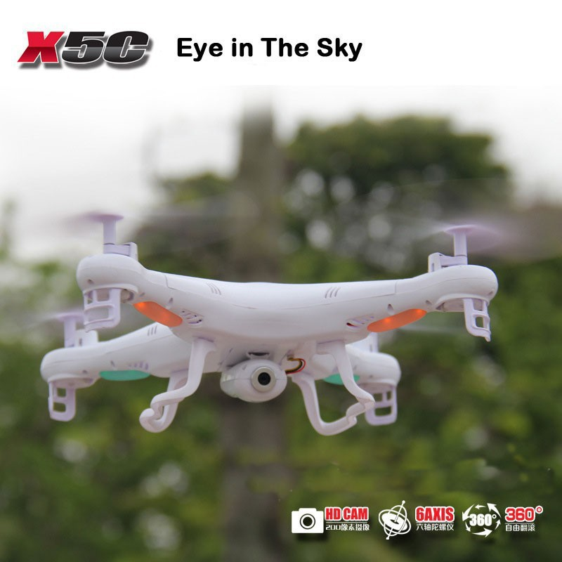 100% Original 2.4G 4CH 6-Axis SYMA X5C Upgrade X5C-1 Toys RC Helicopter with 2MP HD Camera or without camera Quadrocopter Drone(China (Mainland))