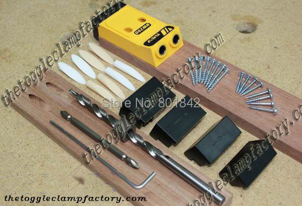 Pocket hole drill guide jig kit - ChinaSouthCity store