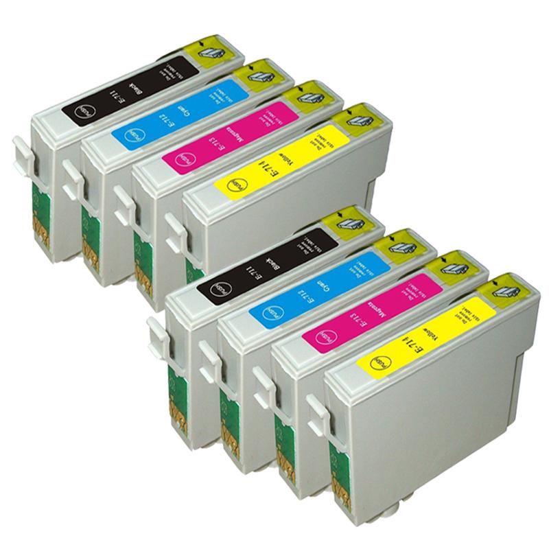 8 Compatible T0711-T0714 T0715 Ink Cartridge For EPSON Stylus Stylus DX8400 DX8450 DX9400F DX7000F DX7400 DX7450 Inkjet Printer(China (Mainland))