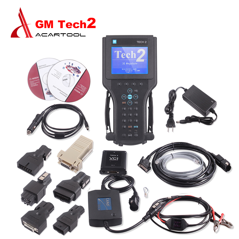 DHL free shipping gm tech2 diagnostic tool for GM/SAAB/OPEL/SUZUKI/ISUZU/Holden Vetronix gm tech 2 scanner without plastic box(China (Mainland))