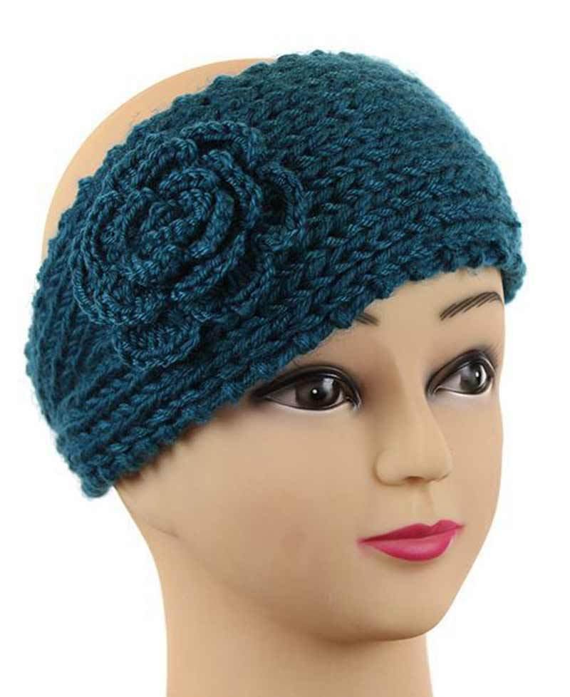 Knitting Patterns For Ear Warmers With Flower : Knitting-Pattern-Head-band-For-Women-Crochet-Flower ...