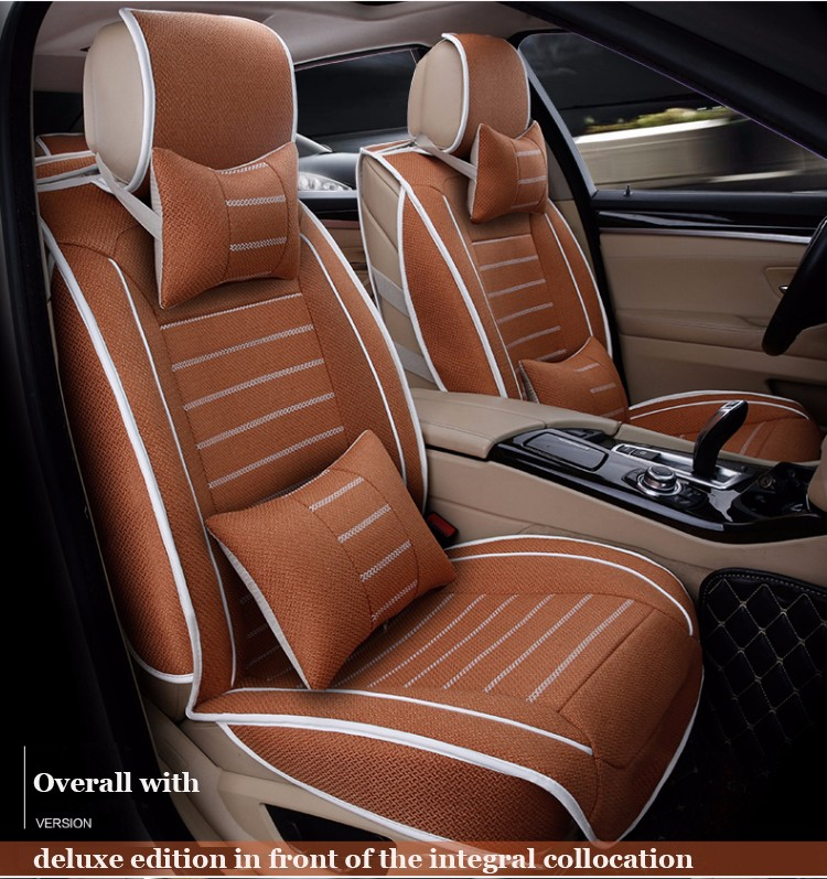 High quality linen Universal car seat cover For Benz A B C D S E Vito Viano Sprinter Maybach CLA CLK Sprinter car accessories
