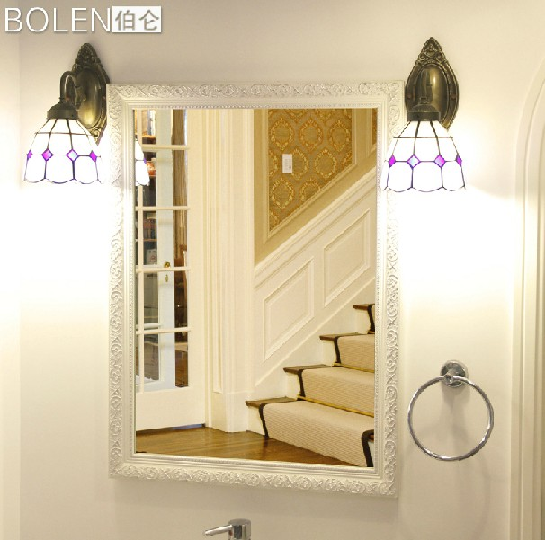 2014 new pastoral style wooden frame decorate mirror