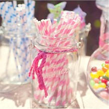 Free Shipping 25pcs/Lot Chevron Striped And Polka Dot Drinking Paper Straws For Wedding Birthday Party Decoration
