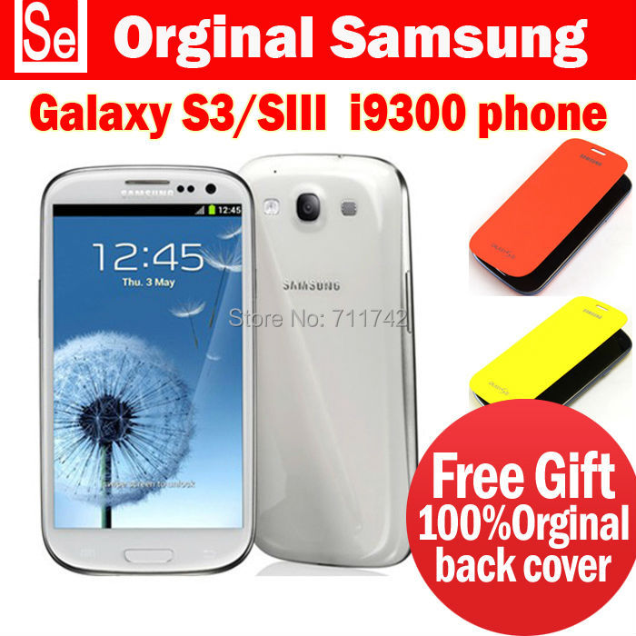"S3 Original Samsung Galaxy S III SIII S3 i9300 Android 4.8"" Touch Screen 8MP GPS WIFI 8MP 16G Mobile Phone Refurbished Free Case(China (Mainland))"