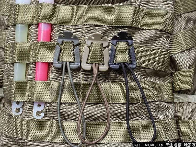 EDC Gear 2Pcs/lot ITW Webdom Web Dominator Molle Backpack Carabiner, EDC Tool, Elastic Rope Webbing Buckle Winder<br><br>Aliexpress