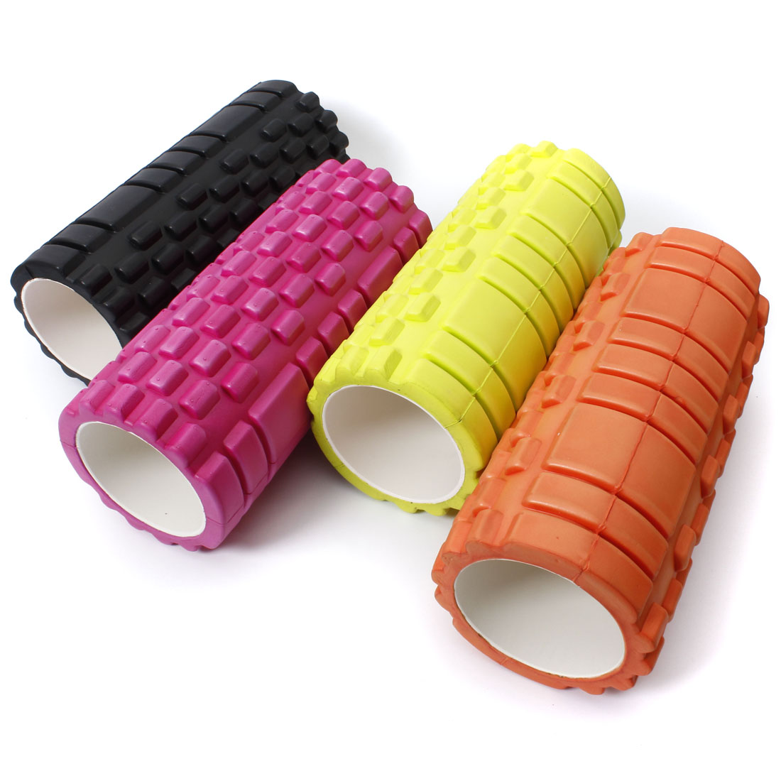 New 5 Color 34x14cm 13x5inch Pilates Fitness Foam Roller Massage Grid Trigger Point<br><br>Aliexpress