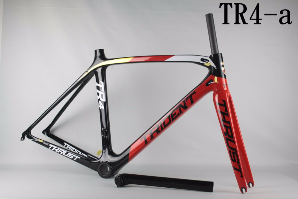 wholesale/retail Tridentthrust TR6-A carbon road bike frame carbon fiber road frame withCarbon Fiber UD Toray T800 free shipping<br><br>Aliexpress
