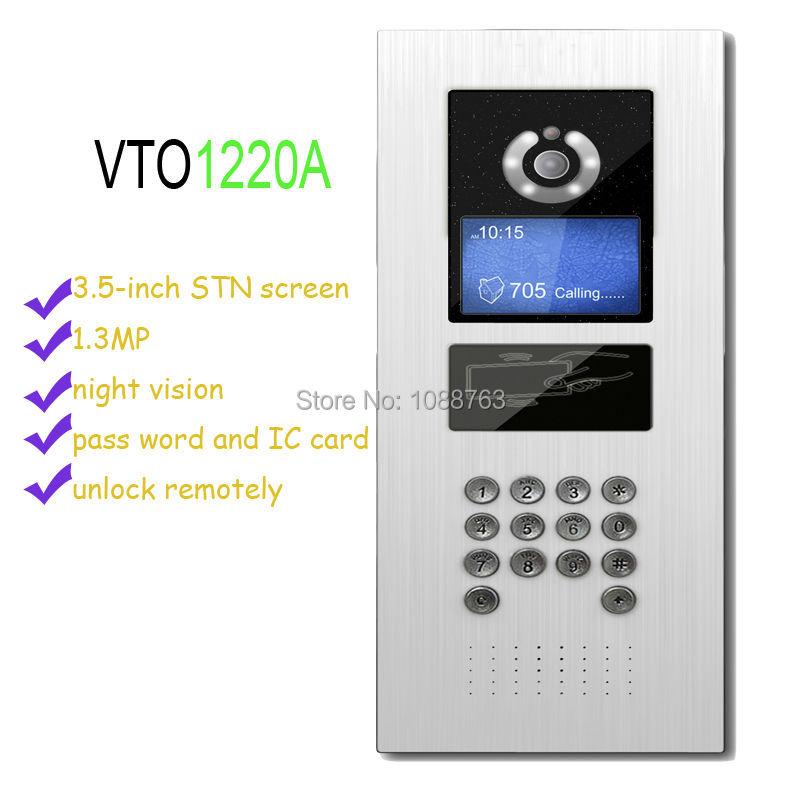 Free Shipping DAHUA Video Door Phone Building intercom Apartment Outdoor Station Video Intercom System Without Logo VTO1220A(China (Mainland))
