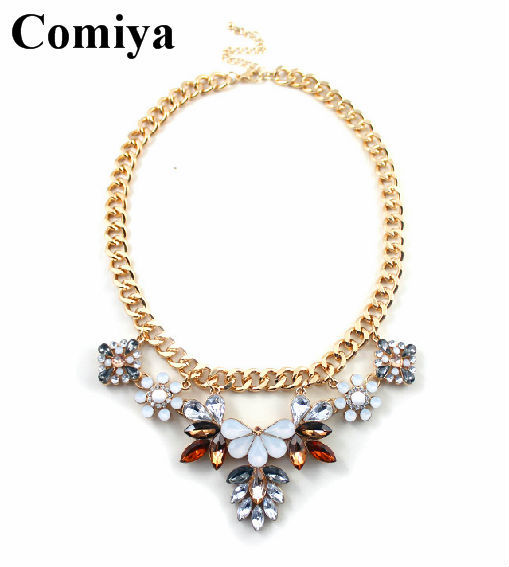 New arrival summer style long chunky cheap choker necklace cc perfume women necklaces indian jewelry best friends gifts collares(China (Mainland))