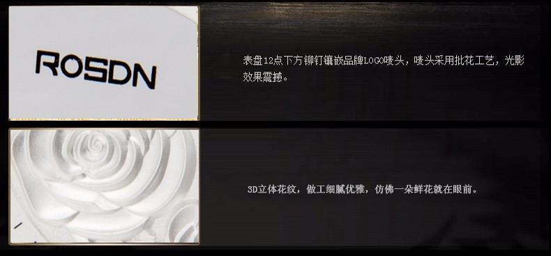 ROSDN 2016 Механическая кожа Часы женские Водонепроницаемые Часы Мода Марка Роскошные Часы Девушка Часы Лучший Бренд Класса Люкс наручные часы