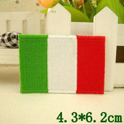LK-PT-0393 Free ship about Italy national flag logo military velcro Morale Embroidery patch 3D DIY Badge iron on bags 4.3*6.2cm(China (Mainland))