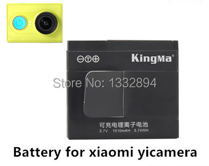 KingMa Xiaomi yi Battery 2PCS 1010mAh Xiaoyi Battery Xiao Yi Battery Dual Charger For Yi Action