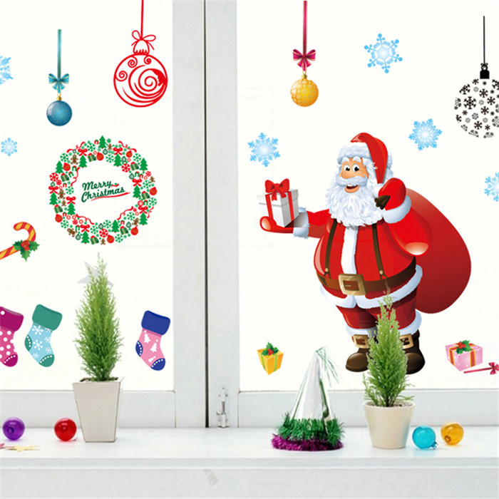 Wall Decoration Gifts : Aliexpress buy merry christmas gift xmas tree santa