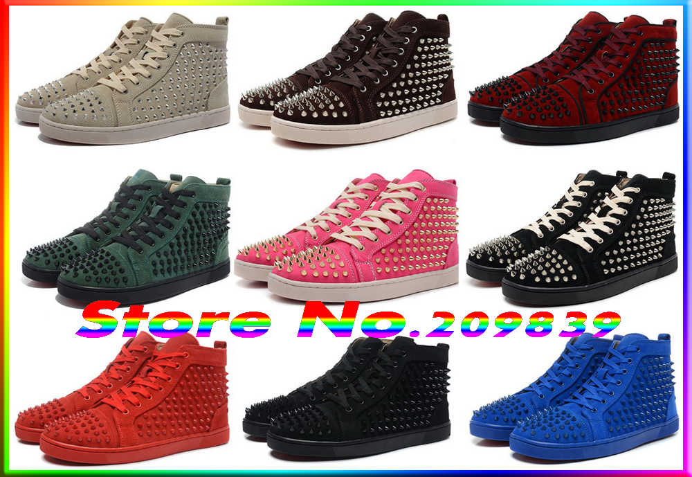 cheap name brand 2016 spike studded fashion noble casual