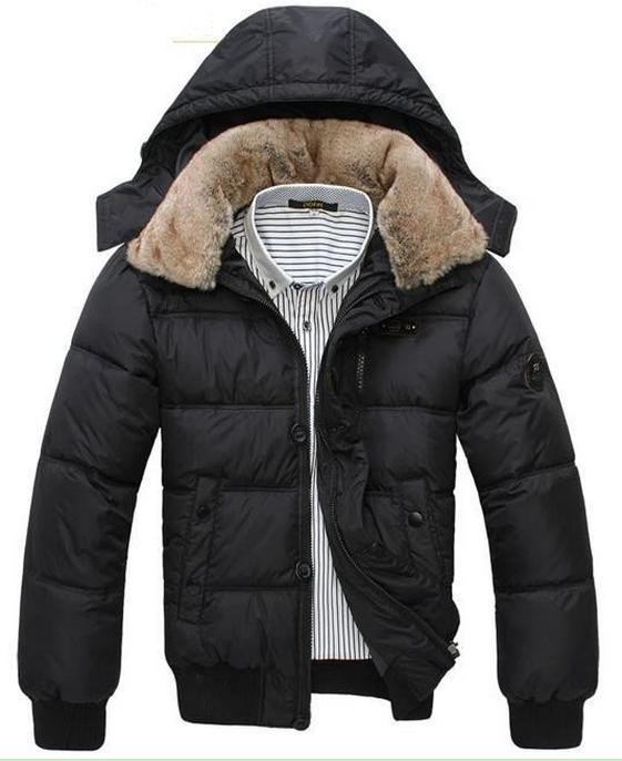 Men Winter Coat Thick Warm 2015 Hot Fashion Jacket Men Parka Outdoor Wear High Quality Black