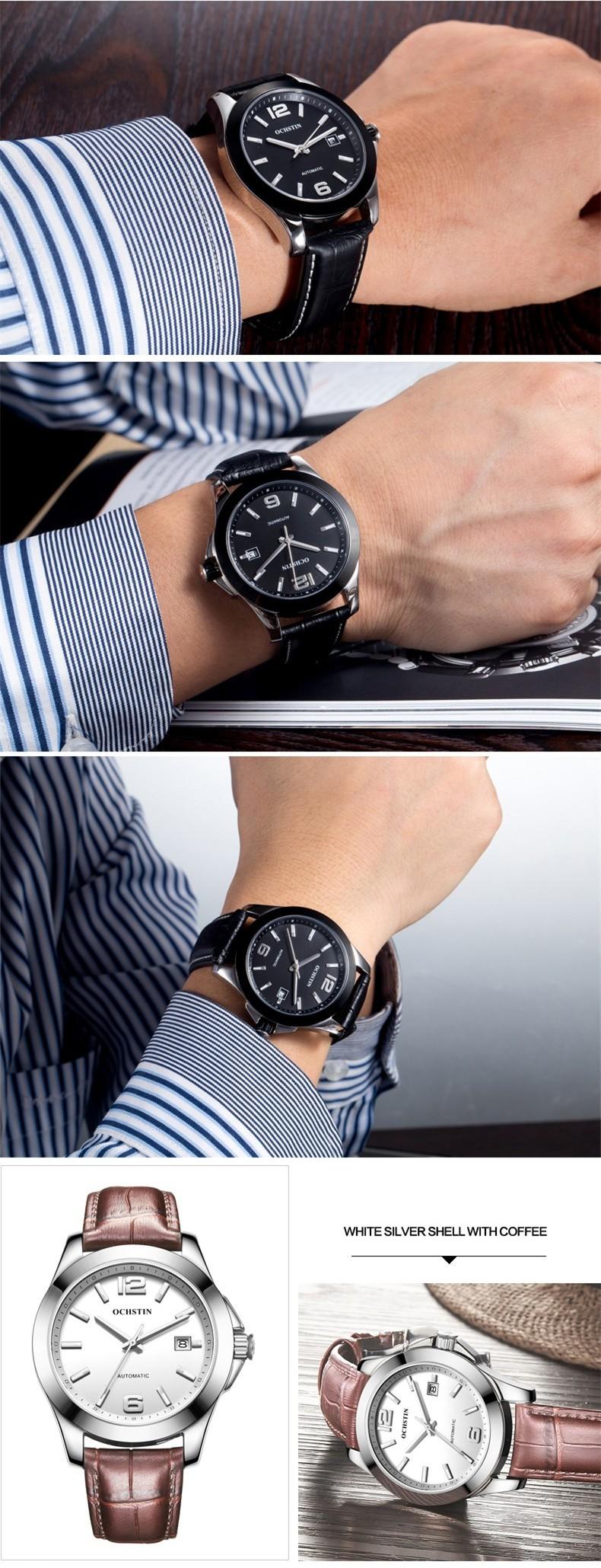 OCHSTIN Смотреть Мужчины Автоматическая Механическая Люксовый Бренд мужские Часы Часы Мужчины Наручные часы Relogio Masculino Мода reloj hombre
