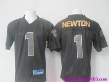 2016 Men Carolina panthers 1 Cam Newton 59 Luke Kuechly embroideried Logo black golden collection(China (Mainland))
