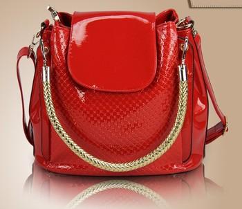 2014 new women patent LEATHER Messenger bag tote bag Shoulder bag handbag LF06705d