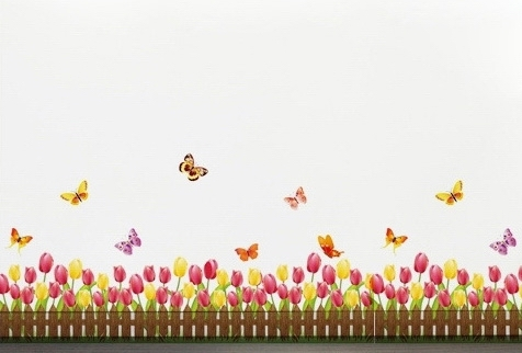 tulip border wall stickers - photo #15