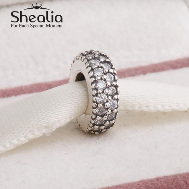 Вымощает прозрачный циркон спейсерной подвески-талисманы 925 чистое серебро ювелирные изделия делает подходит бренд своими руками браслеты дизайн