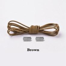 1 זוג נעילת אלסטי שרוכי עגול לא עניבה נעל שרוכי ילדים למבוגרים התעמלות מהיר עצלן נעל תחרה שרוכי 25 צבעים(China)
