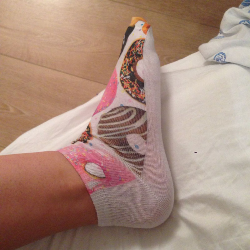 New Harajuku 2015 Women Socks 3D Totoro Animal Print Short Sock Unisex Cartoon Low Cut Ankle