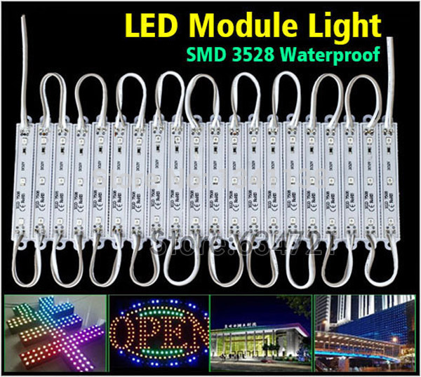 1000PCS Waterproof IP65 PVC 3 Led Module White / Blue / Green / Red / Yellow Indoor and Outdoor Decoration Led Lights(China (Mainland))