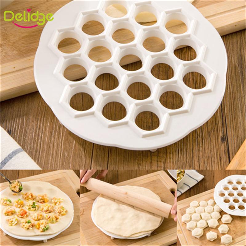 1 pcs New Design 19 Holes Dumplings Maker Mold DIY Eco Friendly Fast Make Plastic Dumplings Tool Jiaozi Machine Pastry Tool(China (Mainland))