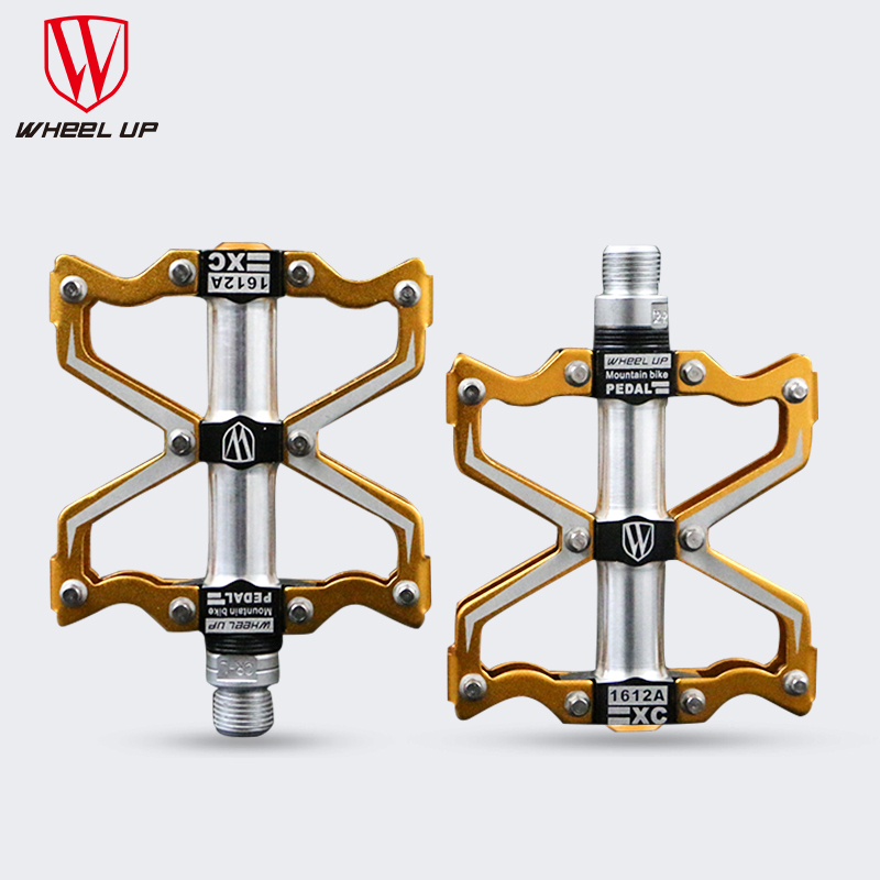 WHEEL UP 3 bearings Aluminum alloy bike pedals CNC bmx road mtb mountain bicycle pedals bike parts accessories titanium 2016 new(China (Mainland))