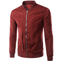New Wine Red Jacket Men Bomber Veste Homme2016 Spring Autumn Fashion Mens Slim Fit Zipper Bombers