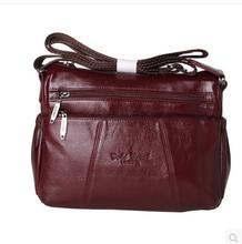 Fashion All match Women s Messenger Bag 100 Genuine Leather Handbags cowhide shoulder crossbody bags for