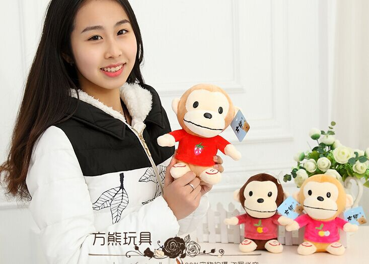 10 pieces a lot cute creative plush monkey toys small fruit monkey dolls about 20x8x14cm<br><br>Aliexpress