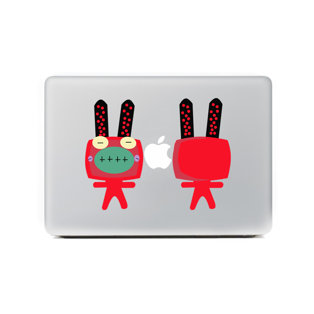 "Cute Rabbit Vinyl Decal Sticker Skin for Apple Macbook Pro Air Mac 11 ""13"" 15 ""inch Notebook Laptop Skin Netbook Sticker Cover(China (Mainland))"