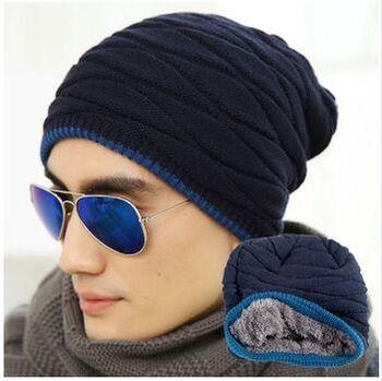 2014 зимняя шапка мужчины шапочка эль сомбреро больше добавить шерсть вязаная шапка ...