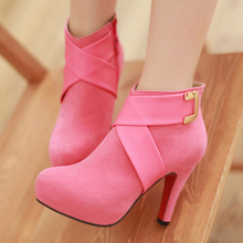 2013 martin boots high thin heels boots single boots sweet ankle-length fashion elegant boots(China (Mainland))
